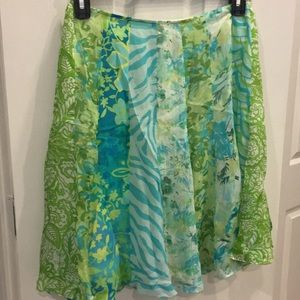 Patterned Skirt Size 8P